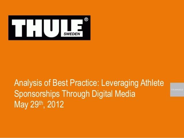Analysis of Best Practice: Leveraging AthleteSponsorships Through Digital MediaMay 29th, 2012