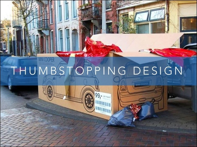 THUMBSTOPPING DESIGN