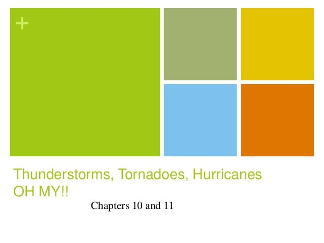 +Thunderstorms, Tornadoes, HurricanesOH MY!!           Chapters 10 and 11