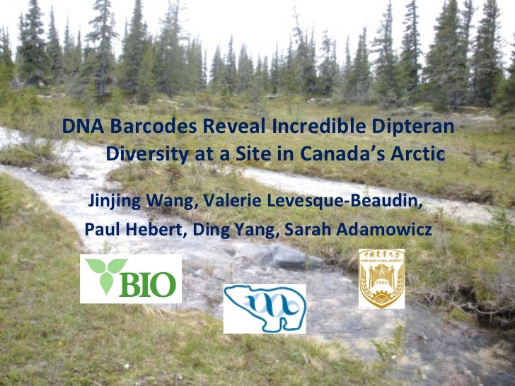 DNA Barcodes Reveal Incredible Dipteran Diversity at a Site in Canada's Arctic Jinjing Wang, Valerie Levesque-Beaudin,  Pa...