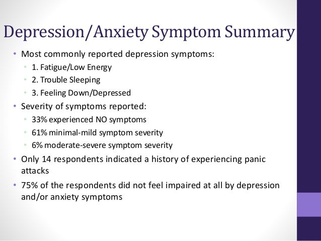 Anxiety depression syndrome