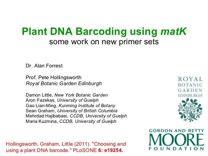 Peter Hollingsworth - Plants Plenary