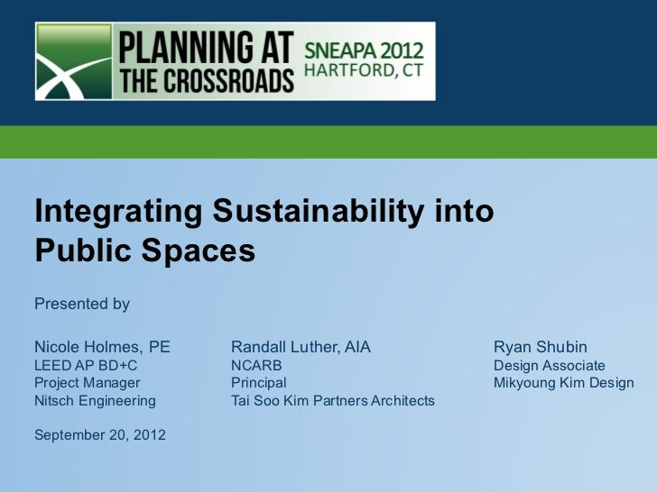 Integrating Sustainability into Public Places