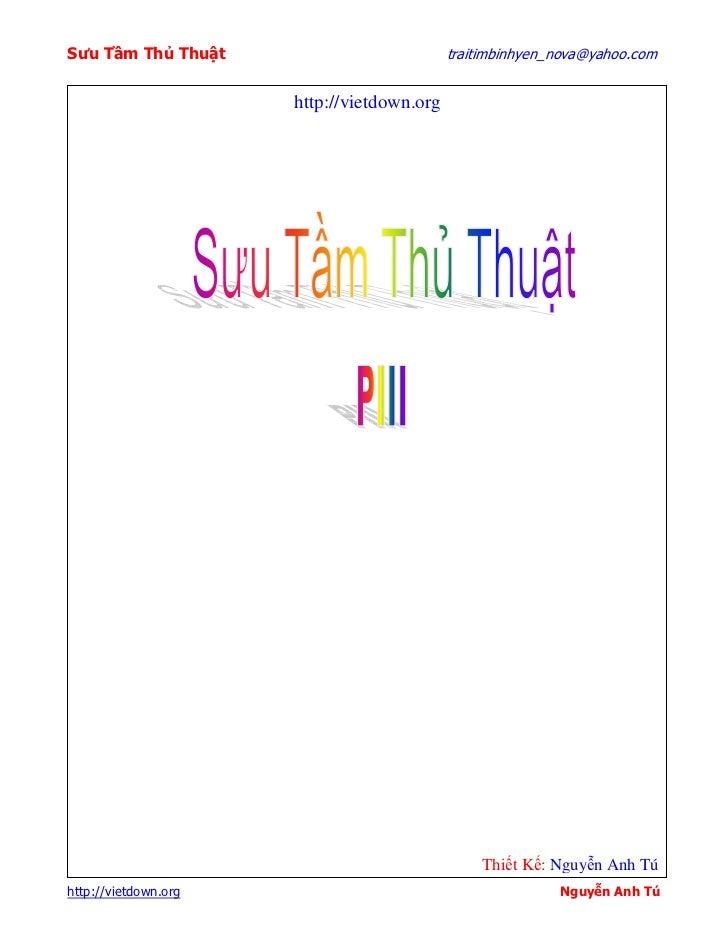 Sưu T m Th Thu t                            traitimbinhyen_nova@yahoo.com                      http://vietdown.org        ...