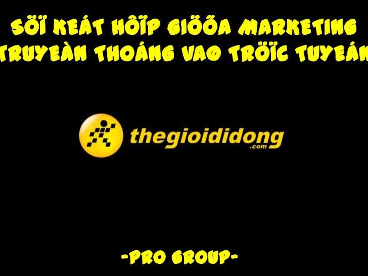 1-Giôùi thieäu veà thegioididon- Thaønh laäp thaùng 03/2004- Lónh vöïc hoaït ñoäng