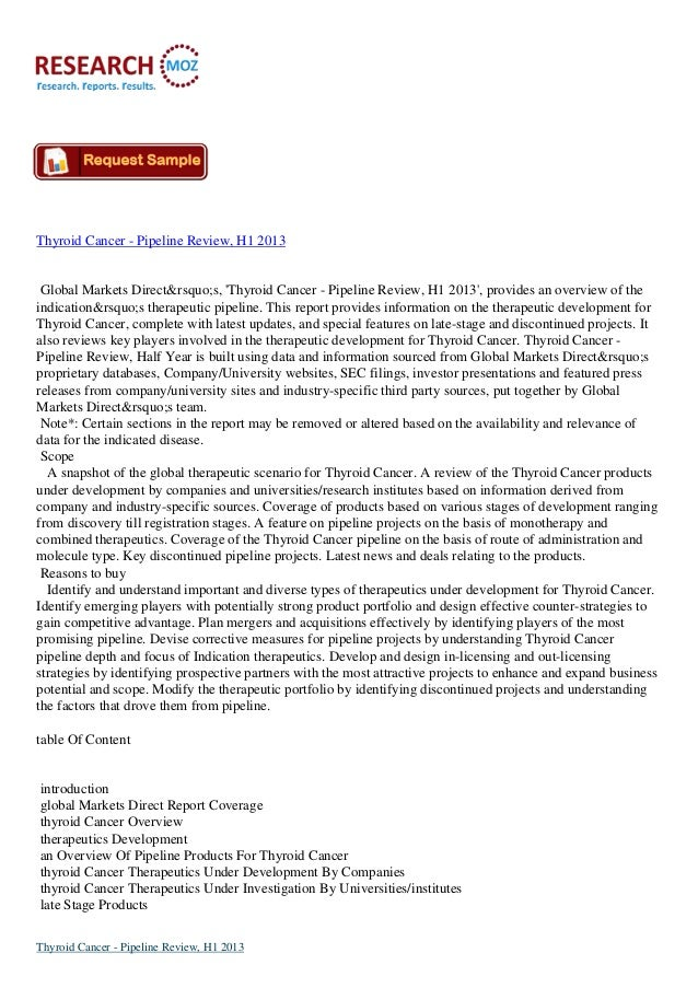 Thyroid Cancer - Pipeline Review, H1 2013 Global Markets Direct's, 'Thyroid Cancer - Pipeline Review, H1 2013', prov...