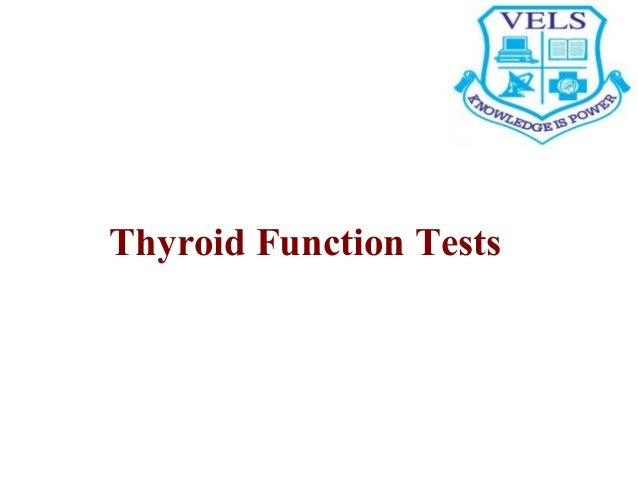 Thyroid function tests