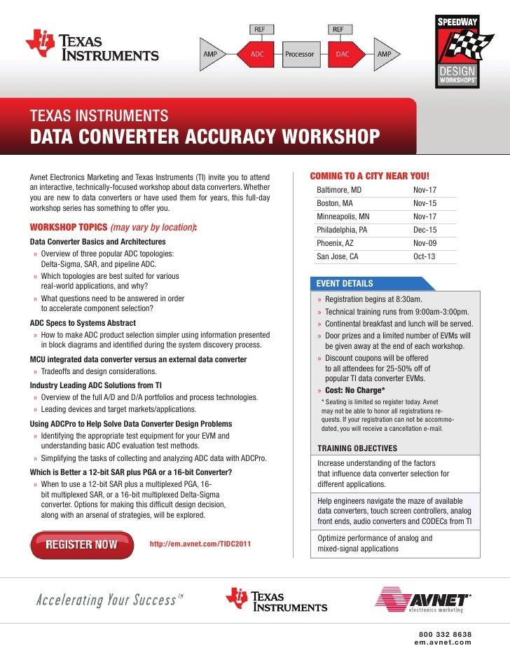 SpeedWay: Avnet and Texas Instruments Data Converter