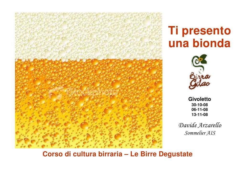 Corso Gilac Cultura Birraria - Birre Degustate