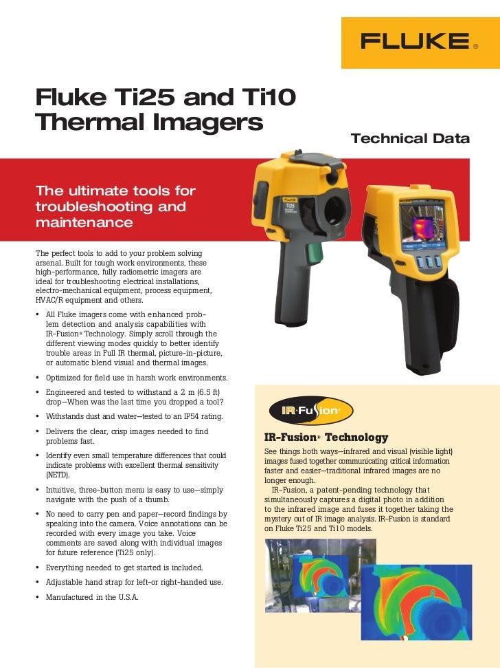 Fluke Ti25 and Ti10Thermal Imagers                                                                                    Tech...