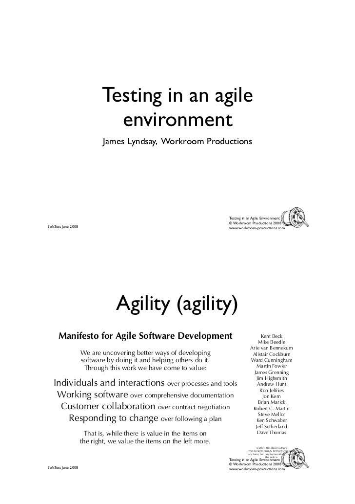 James Lyndsay - Testing in an agile environment