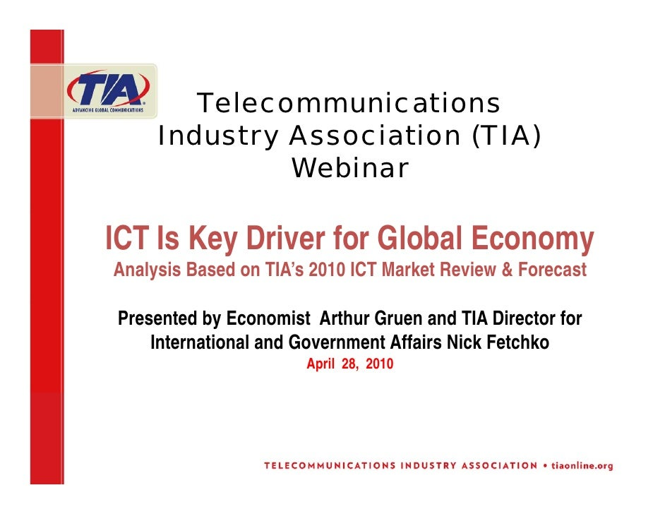 ICT Industry Is Revitalizing and Strengthening Global Economy