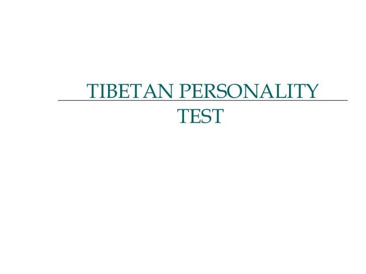 Tibatian Test