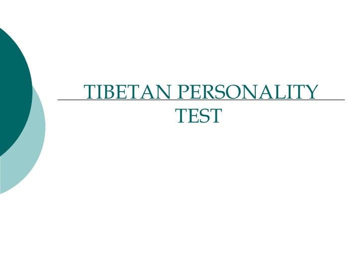 TIBETAN PERSONALITY TEST