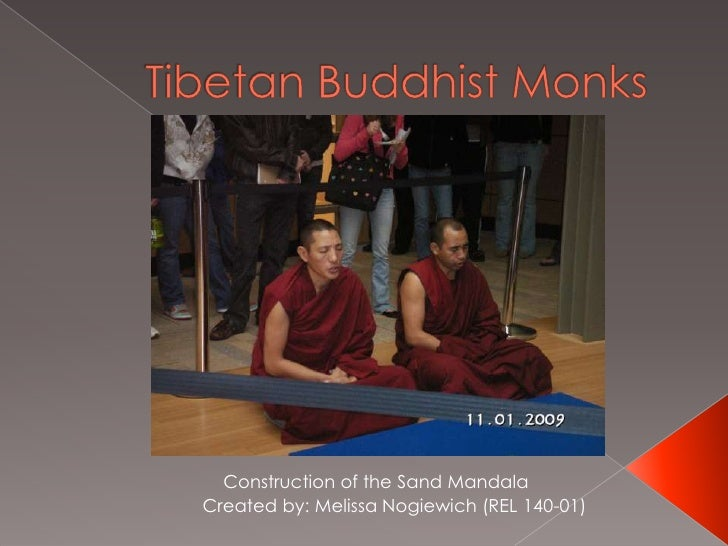 Tibetan Buddhist Monks<br />Construction of the Sand Mandala<br />Created by: Melissa Nogiewich (REL 140-01)<br />