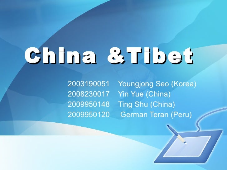 [Investigacion] China Tibet Issue