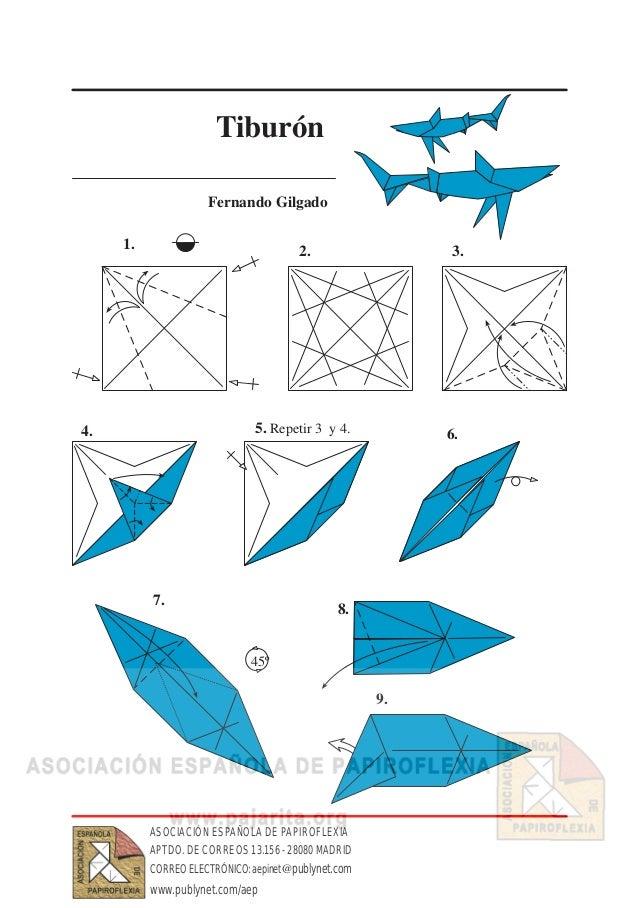 Как сделать акулу из бумаги чтобы