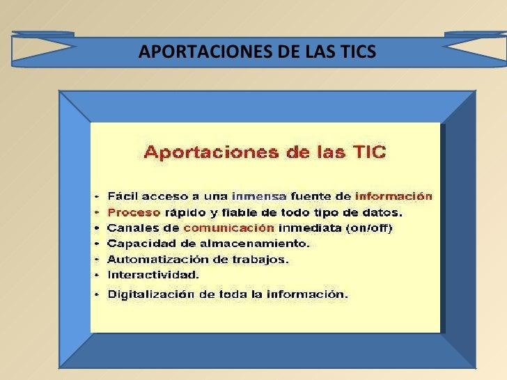 APORTACIONES DE LAS TICS