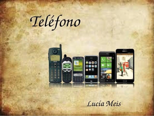 Teléfono   LucíaMeis