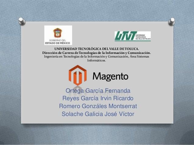 UNIVERSIDAD TECNOLÓGICA DEL VALLE DE TOLUCA. Dirección de Carrera de Tecnologías de la Información y Comunicación. Ingenie...