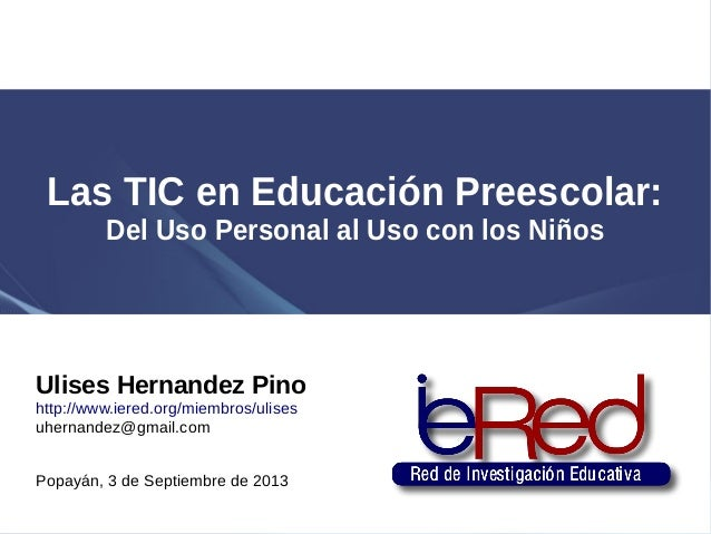 TIC en Educacion Preescolar