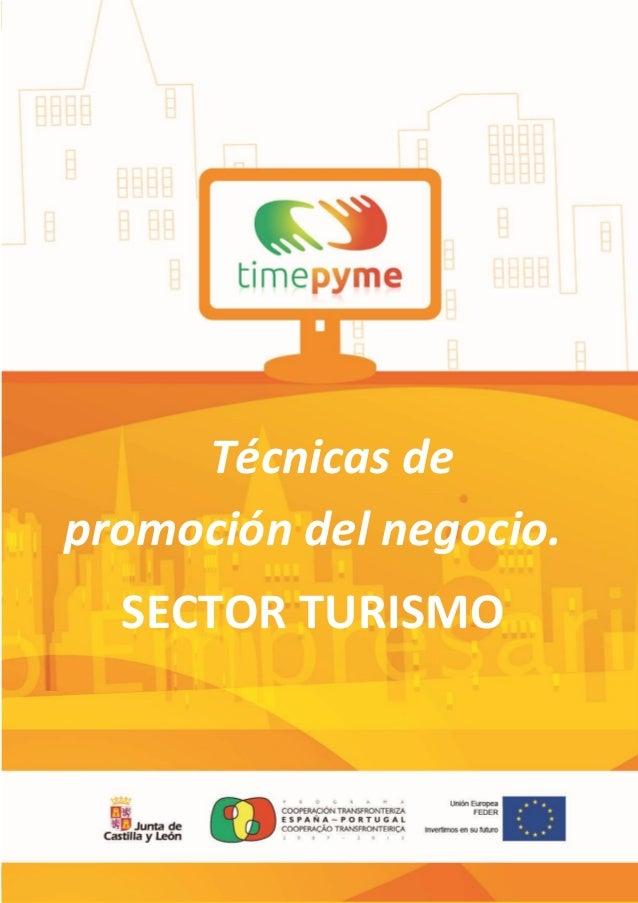 Técnicas de promoción del negocio. SECTOR TURISMO  1
