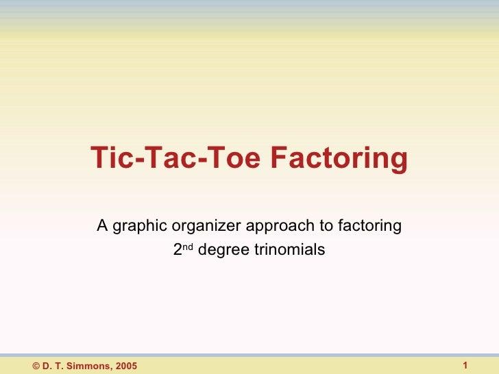 Tic Tac Toe Factoring