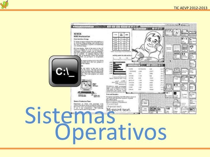 TIC AEVP 2012-2013Sistemas   Operativos