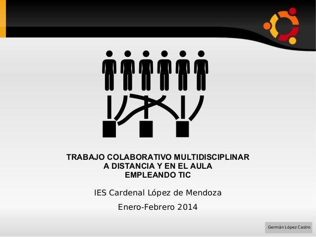 Trabajo colaborativo multidisciplinar a distancia y en el aula empleando TIC (2014)