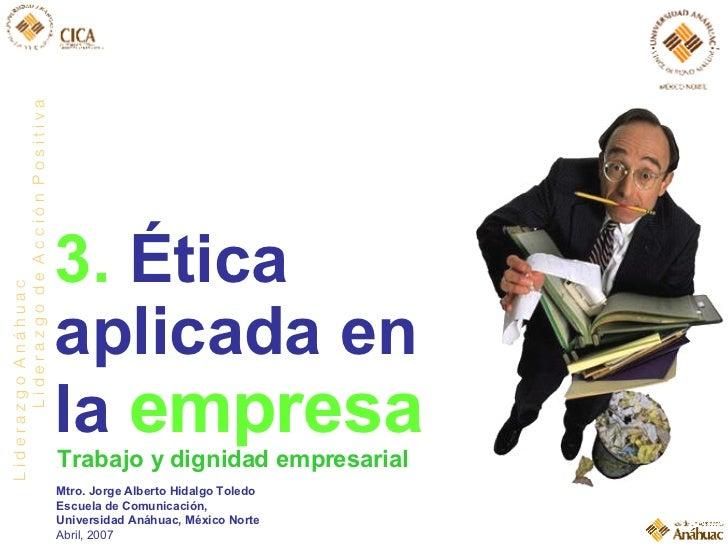 Ética aplicada en las empresas