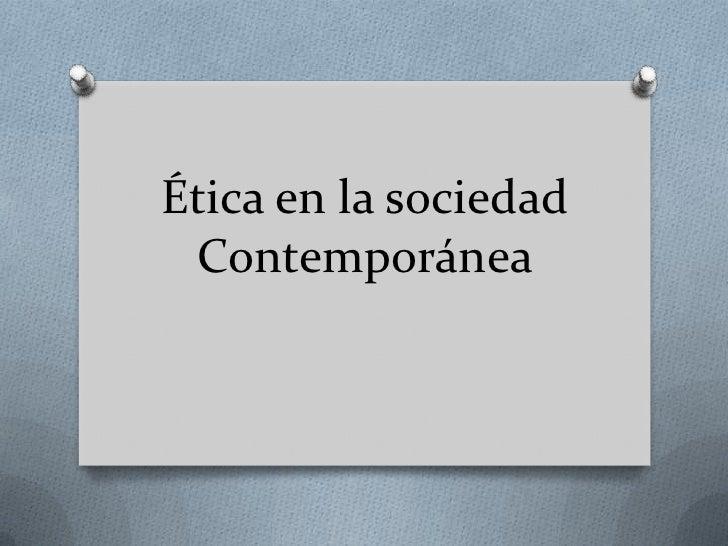 etica de la sociedad civil: