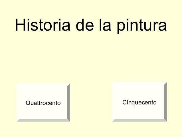 Historia de la pintura Quattrocento Cinquecento