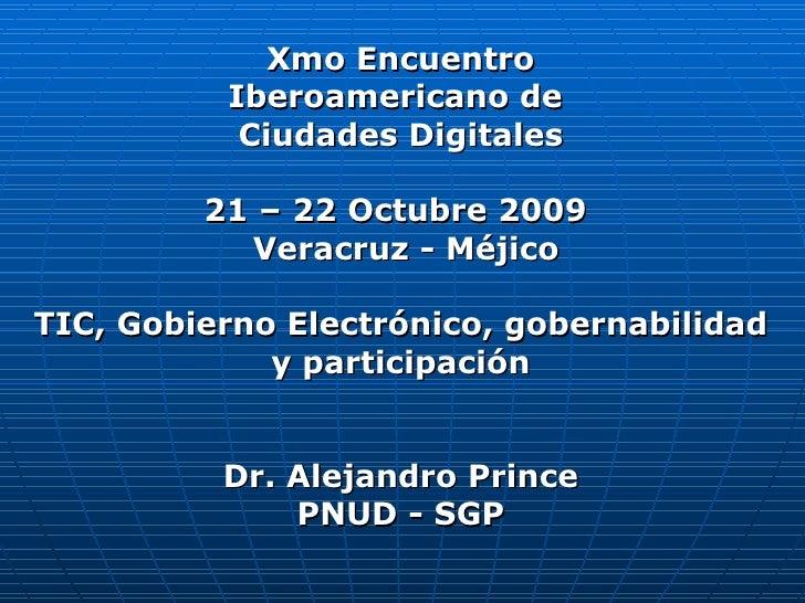 TIC Gobernabilidad y Participación Méjico 09