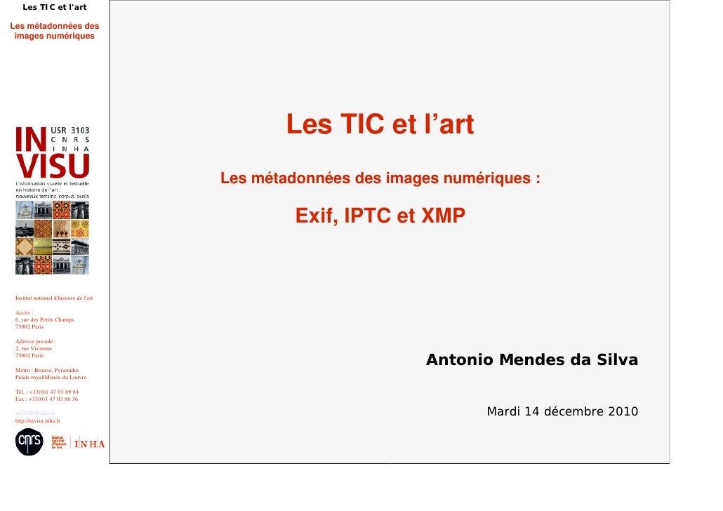 Les TIC et l'art : métadonnées des images numériques
