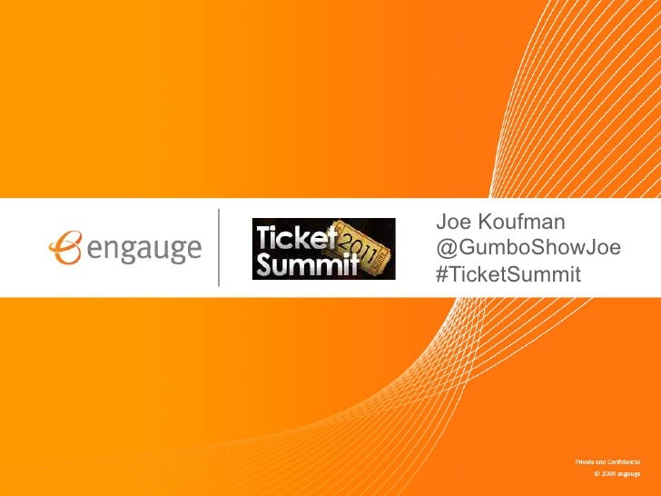 Joe Koufman @GumboShowJoe #TicketSummit