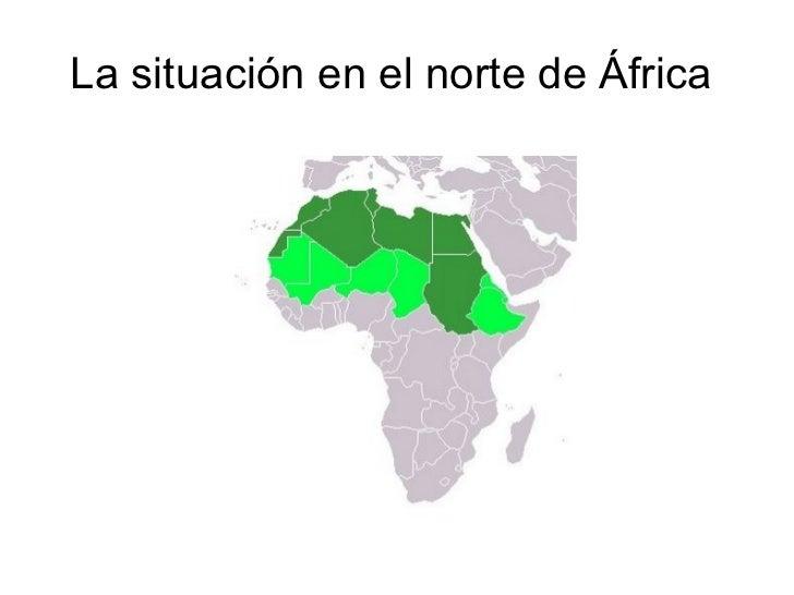 La situación en el norte de África