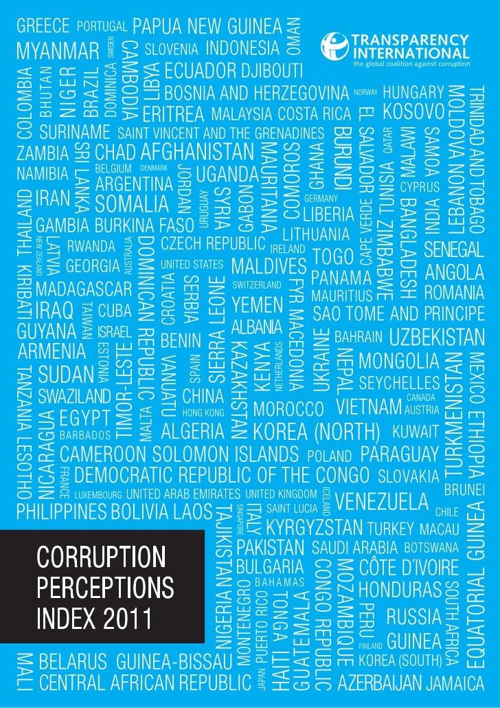 Corruption : Rapport annuel 2011