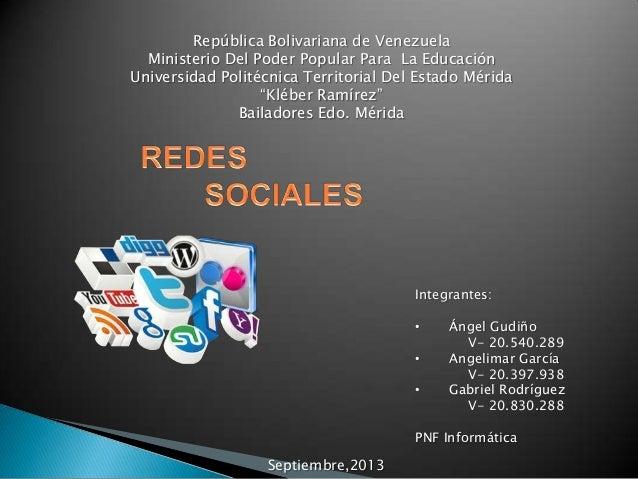 República Bolivariana de Venezuela Ministerio Del Poder Popular Para La Educación Universidad Politécnica Territorial Del ...