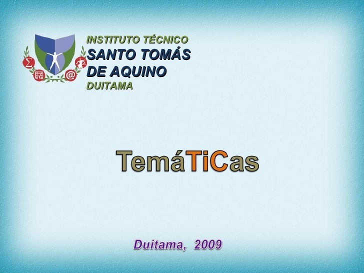 INSTITUTO TÉCNICO  SANTO TOMÁS DE AQUINO DUITAMA