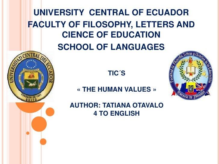 Facultad de Filosofia, Letras y Ciencias de la Educacion  Tatiana Otavalo