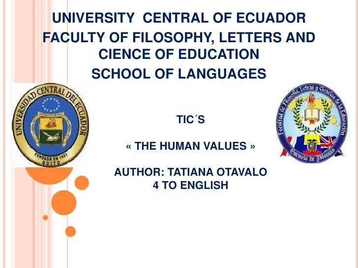 UNIVERSITY CENTRAL OF ECUADORFACULTY OF FILOSOPHY, LETTERS AND       CIENCE OF EDUCATION      SCHOOL OF LANGUAGES         ...