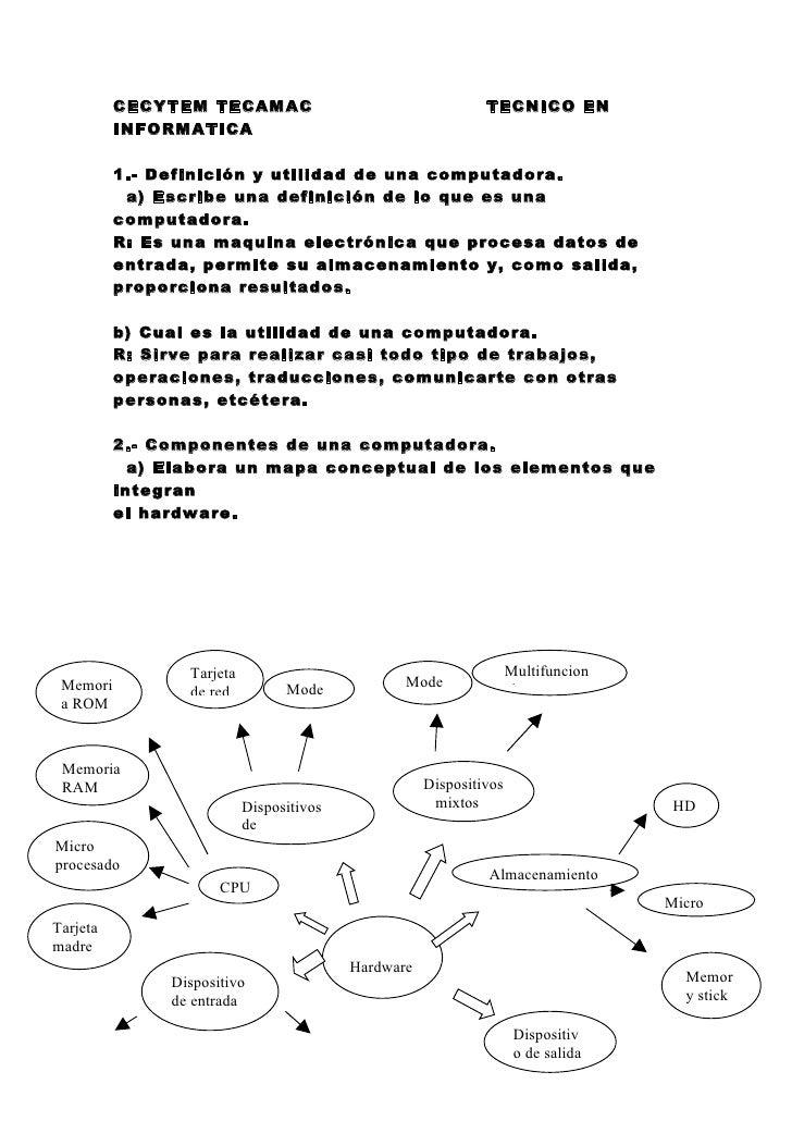 CECYTEM TECAMAC                                     TECNICO EN           INFORMATICA            1.- Definición y utilidad ...