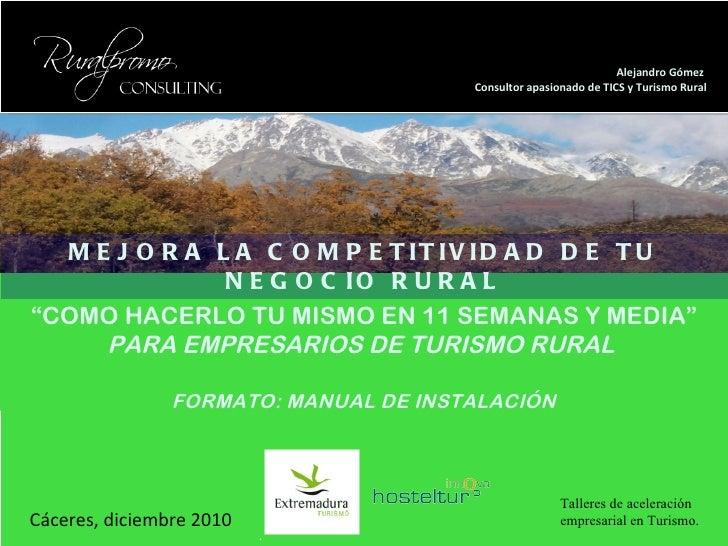 Turismo Rural Wordpress, Turismo rural facebook, turismo rural twitter