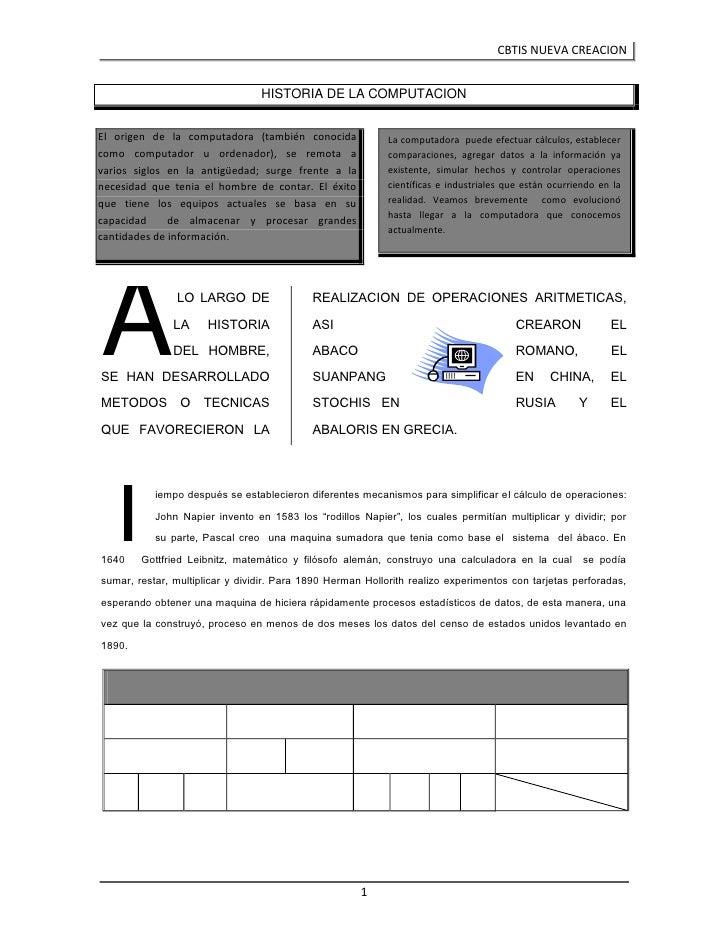 La computadora  puede efectuar cálculos, establecer comparaciones, agregar datos a la información ya existente, simular he...