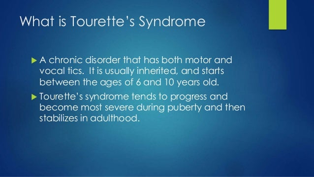 Tics And Tourette S Syndrome