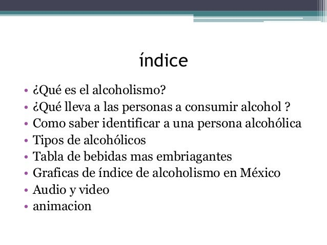 El tratamiento al alcoholismo en el hospital
