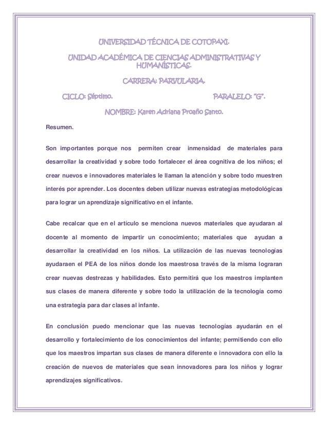 UNIVERSIDAD TÉCNICA DE COTOPAXI.        UNIDAD ACADÉMICA DE CIENCIAS ADMINISTRATIVAS Y                       HUMANÍSTICAS....
