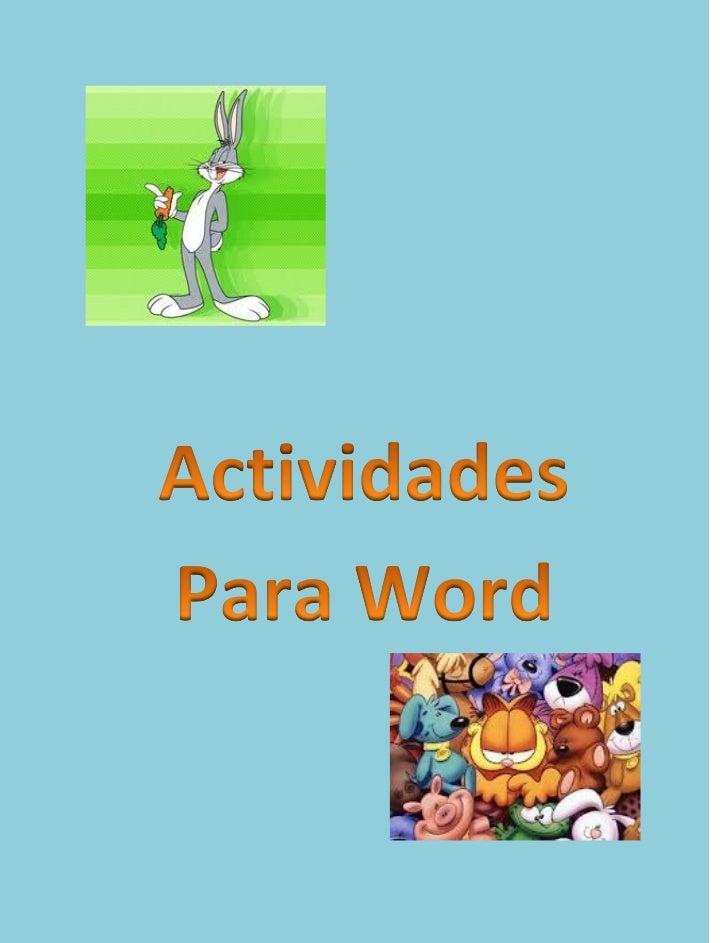 Actividades para Word