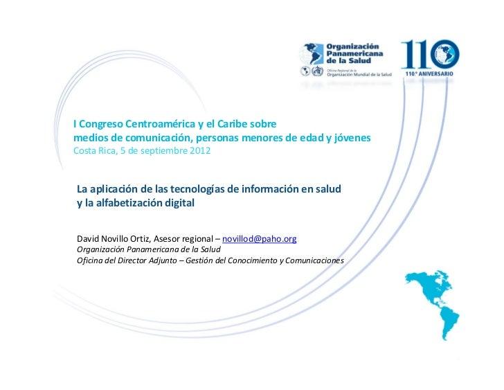 La aplicación de las tecnologías de información en salud y la alfabetización digital