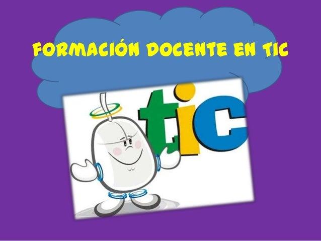 formación docente en Tic